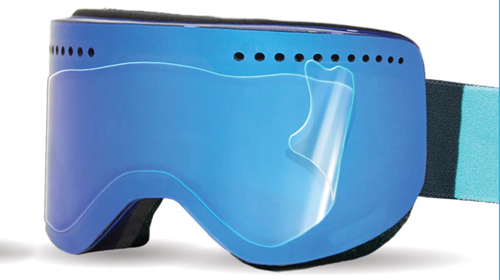 Ripclear flat goggle lens scratch protector
